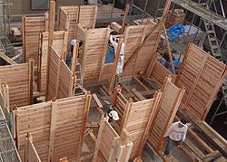 建て方の写真