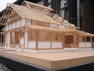 本堂設計時(6年前)の30分の1構造模型
