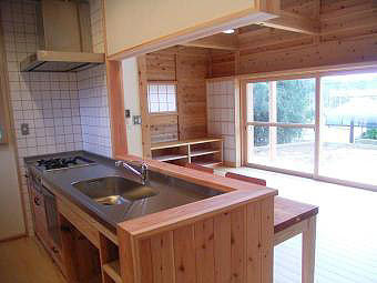 セミオープンのキッチン
