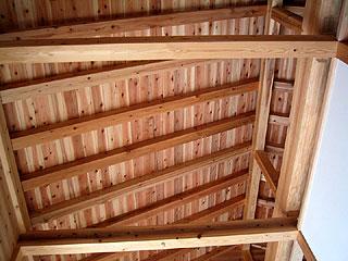 シンプルな垂木構造