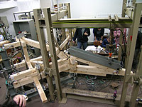 法隆寺金堂(部分:S=1/2)構造実験写真