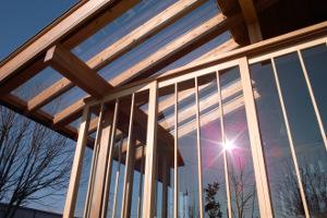 屋根をガラス張り
