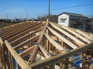 平屋建ての建て方の様子