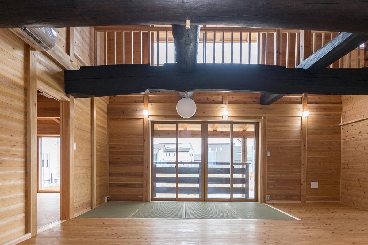 春風台の家(K邸)居間
