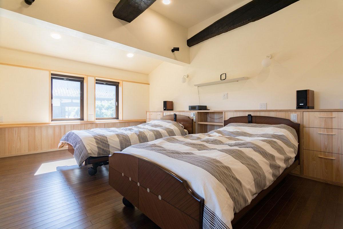 つくばの家(S邸)寝室